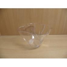 Фуршетная форма чашка Цветок 0,35л прозрачная ПС одноразовая арт.1056