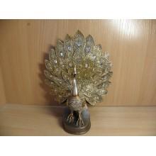 Фигурка Павлин серия Махараджи 18,5х10х22см керамика в коробке код 146-739