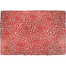 Салфетка подстановочная ПВХ 33х48см прямоугольная красная Плетение арт.RF0056