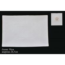 Блюдо керамика Белая роза 390х265мм прямоугольное в подарочной упаковке арт.555-040