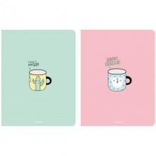 Бизнес-блокнот А5 64л. переплет обложка картон красочный твердый клетка BG Time tea арт.ББ5т64_лм 9146