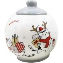 Сахарница Кошки с подарками керамика 400мл в коробке арт.SGH181035AA005 АТМ АТМ