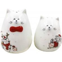 Набор для специй Кошки с подарками керамика 2пр. в коробке арт.SGH181034A005 АТМ