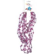 Бусы Шарики пудрово-розовые пластик 2,7м без упаковки арт.ВХ19В0081-5