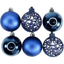 Шар пластик d 60мм Синий без упаковки (6) арт.AR3/016W06/BL