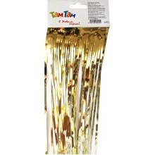 Дождь Блестящий 9см длина 1,5м золото арт.MY-182X-150/1