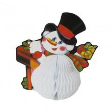 Панно Снеговик с письмом 19х12х19,5см бумага арт.14005