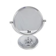 Зеркало двухсторонее настольное оправа металл d12,5см круглое арт.210235
