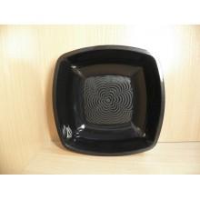 Миска квадратная 180х180мм 0,8л чёрная ПП одноразовая арт.ПОС00277