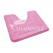 Коврик для туалета 50х60см полипропилен Shahintex Эко 64 розовый арт.864652