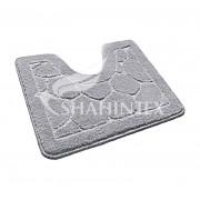 Коврик для туалета 50х60см полипропилен Shahintex Эко 50 серый арт.864676