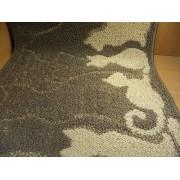 Коврик для ванной комнаты 50х100см прямоугольный полипропилен Shahintex Loop Italiano кошечки 55 кофе с молоком арт.802135