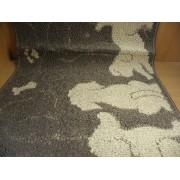 Коврик для ванной комнаты 50х100см прямоугольный полипропилен Shahintex Loop Italiano собачки 55 кофе с молоком арт.802074