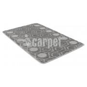 Коврик для ванной комнаты 50х80см прямоугольный полипропилен Актив Icarpet 002 74 пепельный арт.891976