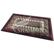 Коврик для ванной комнаты 45х75см прямоугольный полипропилен Shahintex Mosaic 45 бордовый арт.700907