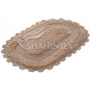 Коврик для ванной комнаты 50х80см овал хлопок Shahintex Zefir Z001 9 золотой арт.707210